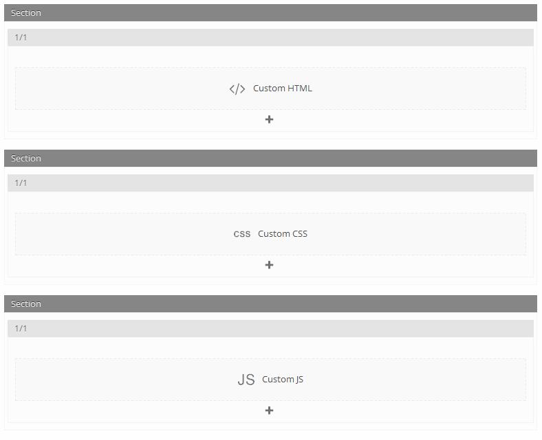 Custom HTML CSS JS